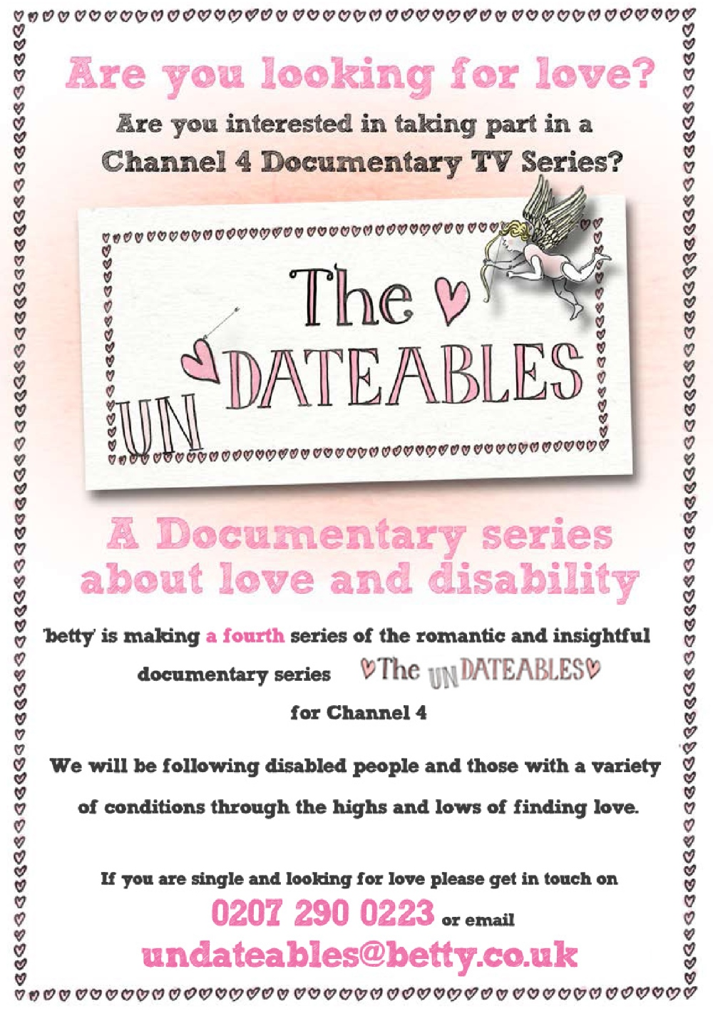 Click to view The Undateables profile and get involved now!